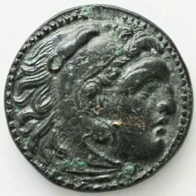 KINGS OF MACEDON. Alexander III 'the Great' (336-323 BC). Ae 5.46gr Unit. Uncert