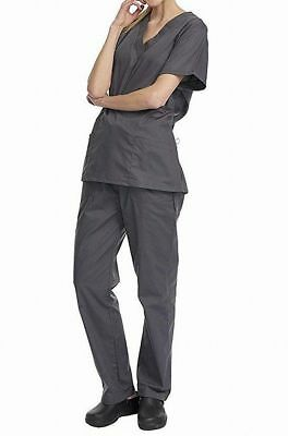 Denice NEW Gray Women's Size  XL Scrub Stretch Work Pant Set
