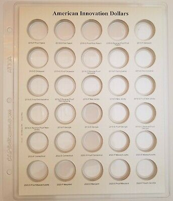 1 for Air-Tite Coin Capsules 2177 CAPS Album Innovation Dollars with Proofs Vol