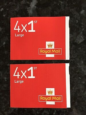 Royal Mail First Class Large letter stamps x 2 books of 4