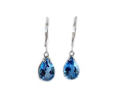Blue Topaz Earrings 7ct Antique 19thC - Ancient Rome Jupiter Apollo Palatine Gem