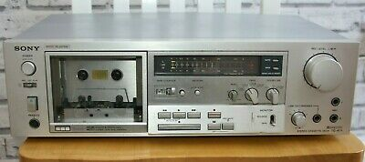 Sony TC-K71 3 head cassette deck, classic silver S+F head, 1 of 2.  Serviced