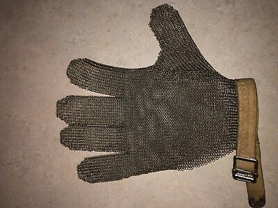 Whiteing and Davis Stainless Steel Mesh Safety Knife Glove Cut Proof  NOS