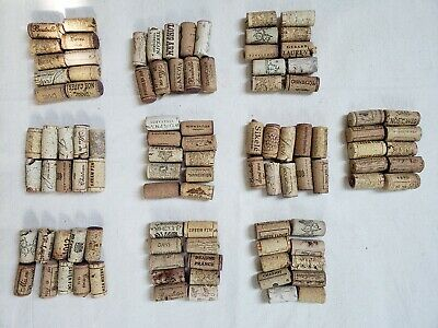 Assorted Used Wine Corks 100ct Natural NO Synthetics/Champagne Free US Shipping