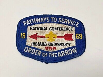 1969 Boy Scouts Order of the Arrow National Conference Indiana University Patch