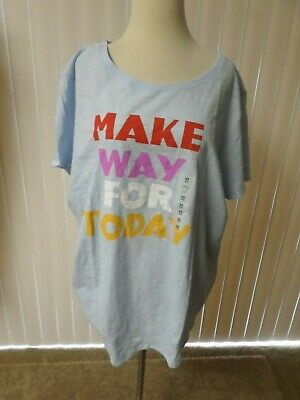 OLD NAVY WOMENS PLUS SIZE 3X  Make Way For Today TEE SHIRT TOP  Blue    MULTNWT