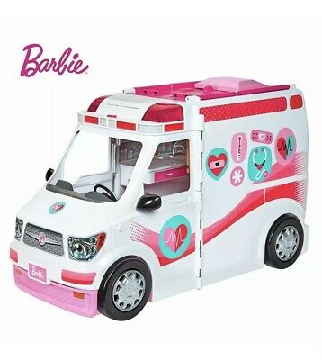 Barbie Careers Care Clinic Ambulance Playset Lights & Sounds Vehicle