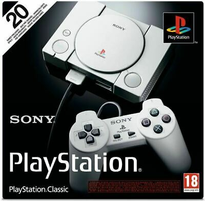 Sony PlayStation Classic Mini Console PS1 - New & Sealed - 20 Games 2 Controller