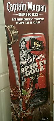 Captain Morgan Spiked Cola DISPLAY Ad  Advertising Bar Sign / Bar Liquor Banner