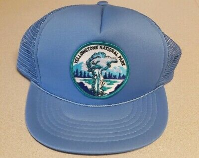 YELLOWSTONE PARK Montana Wyoming Snapback Mesh Trucker Hat Cap BT