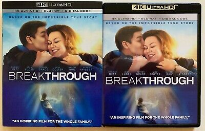 Breakthrough 4K Ultra Hd Blu Ray 2 Disc Set + Slipcover Sleeve Free Worldshippin