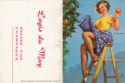 Gil Elvgren Original Poche Calendar 1961 Pin Up Girl