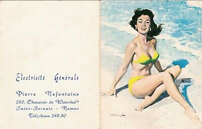 Arthur Sarnoff Original Poche Calendar 1964 Pin Up Girl