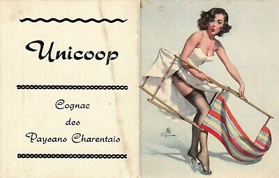 Gil Elvgren Original Poche Calendar 1962 Pin Up Girl