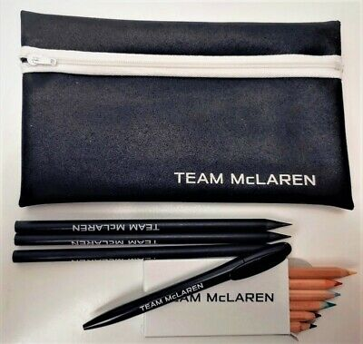 PEN and PENCIL SET Ballpoint Crayons Formula One 1 Team Mclaren F1 NEW! Gift