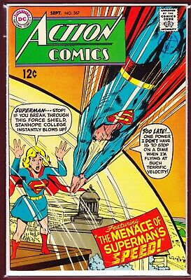 """Dc_Action Comics # 367_Vfn+_(1968)_""""The Menace Of Superman's Speed!""""."""