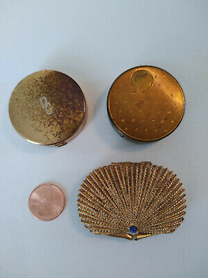 Lot of 3 Vintage Compacts - Dorothy Gray, Richard Hudnut, Estee Lauder