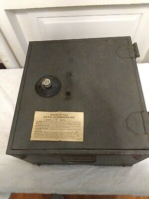 Antique Herring Hall Marvin Safe No 19 Combination Lock