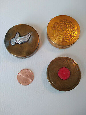 Lot of 3 Vintage Compacts - Evening in Paris, Harmony of Boston, Coty