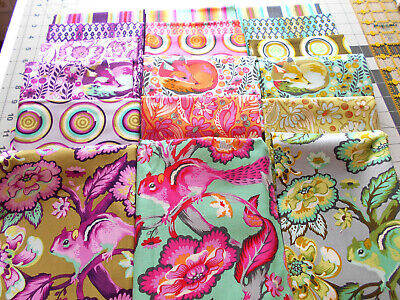 Complete Set  9 x11~ SLOW /& STEADY Rabbit  Tula Pink Cotton Quilt Fabric~Animal