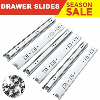 1/10 Pairs Heavy Duty Fully Extension Ball Bearing Drawer Cabinet Slides Runners