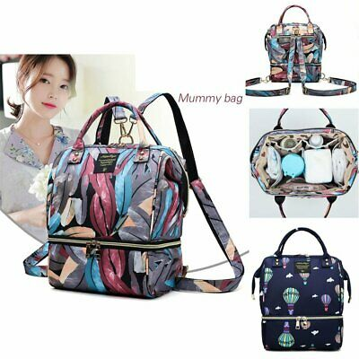 2019 Luxury Large Mummy Maternity Nappy Diaper Bag Baby Travel Portable Backpack
