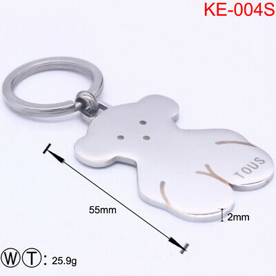 New Stainless Steel Gold-plated Teddy Bear Keychains Modern
