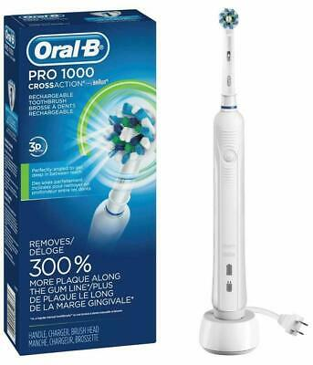 """Oral-B White Pro 1000 Power Rechargeable Electric Toothbrush """"Open Box"""""""