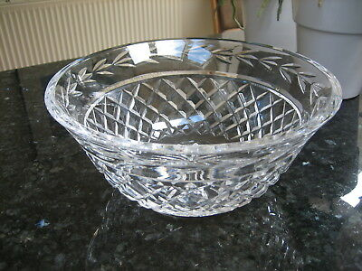 """Waterford Crystal Glandore Bowl 9 1/4"""" Signed"""