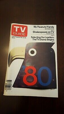TV Guide February 23-29 1980 My Peanuts family. L.A. edition. Never used.