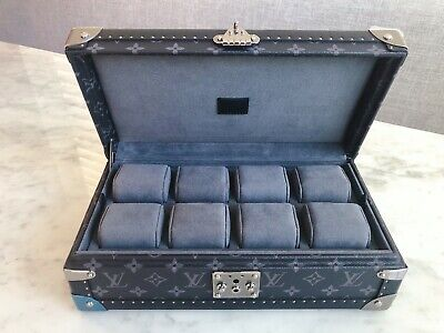 3499486a4a AUTHENTIC LOUIS VUITTON Coffret 8 Montres Watch Case M47641 ...