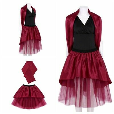 Women Cosplay Costume Movie Role Play Uniform Skirt Fancy Dress Silky Outfits