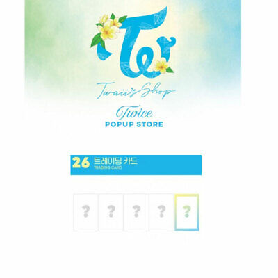 [Twaii's Shop] TWICE OFFICIAL POP UP STORE GOODS -Trading Card Set (5ea)-