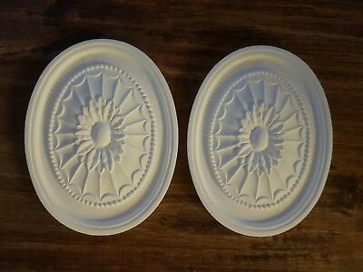 1 Oval Decor Ornate Plaster Wall Ceiling Embellishment Pediment Latex Mould Mold