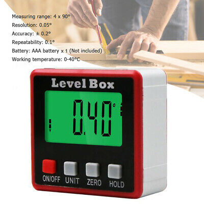 Digital Angle Finder LCD Protractor Inclinometer Level Box AngleFinder Bevel Box