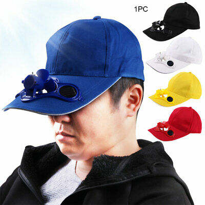Unisex Summer Baseball Hat with Solar Powered Cooling Fan Cap Outdoor Travel