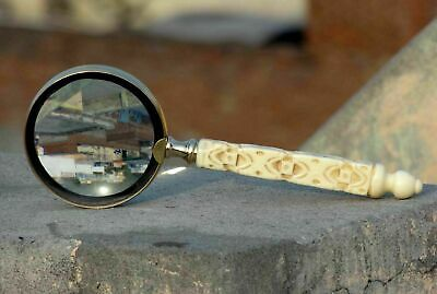 vintage Brass Magnifying Glass Nautical Decor Magnifier Glass With Handle