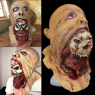 Zombie Mask  Cosplay   Latex Zombie Halloween Scary Head Masks Bloody Mask