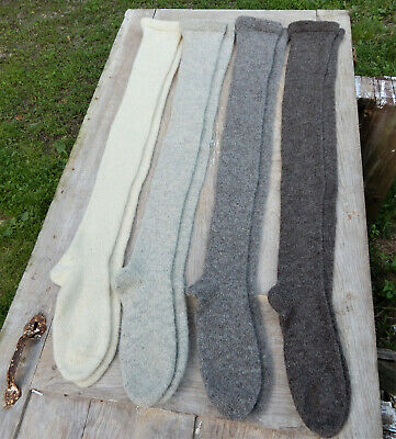 18th Century 100% Wool Stockings CUSTOM MADE in Choice of 4 Undyed Sheep Colors