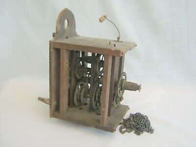 Antique CLOCK MOVEMENT for spares repair restoration - vintage old