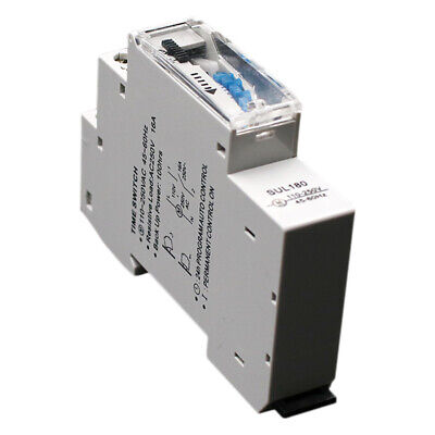 SUL180a 15 Minutes Mechanical Timer 24 Hours Programmable Din Rail Timer Ti F9V8