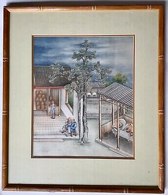 China Trade Picture Chinese Export Painting Tea Production
