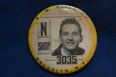 E.W. Bliss Co., Brooklyn, N.Y., WWII Employee Badge