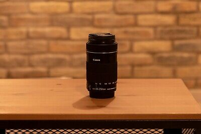 Canon EF-S 55-250mm F/4-5.6 STM IS Lens With UV Filter