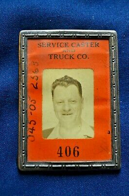 Service Caster and Truck Co., WWII Era Employee Photo ID Badge