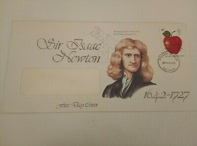 GB FDC 1986 - 1998 First Day Covers Commemorative Air Issac Newton 1987.