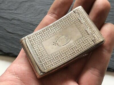 Antique Georgian Solid Silver Curved Snuff Box - D Wilkie