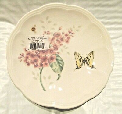 """Single (1)  Lenox Butterfly Meadow Tiger Swallowtail 6.5"""" Party Plate  NWT"""
