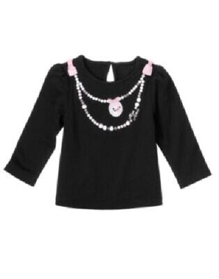 Nwt Gymboree Tres Fabulous Mon Amie Poodle Necklace Top Shirt 18-24 Months