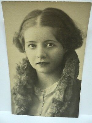 PHOTO ORIGINALE 8,9 x 13,8 cm STUDIO LAPERRIERE PARIS MAGNIFIQUE PORTRAIT  1932